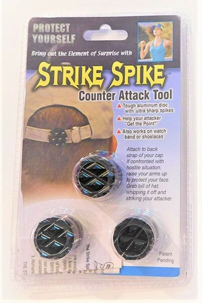 Strike Spike - Self-Defense  Counter Attack Tool - 3 Pack - New   FREE SHIPPING
