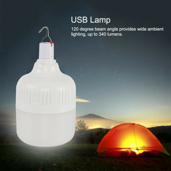 150W 5 Modes Rechargeable LED Night Light Bulb Emergency Outdoor Camping Lamp