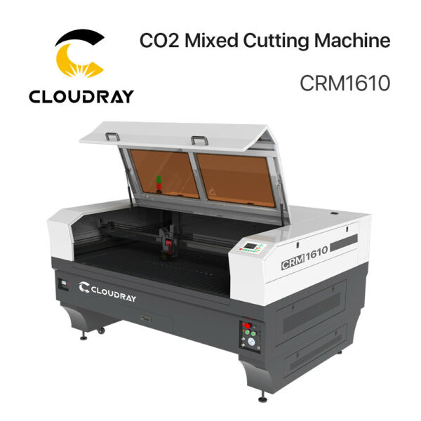 130W 300W CO2 Mixed Cutting Machine CRM1390 & CRM1313 &CRM1620 With S&A Chiller