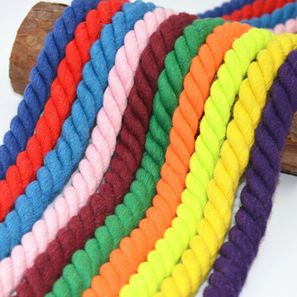 Premium Natural Super Soft Colored Twisted Cotton Rope Multiple Lengthsamp;Diameter