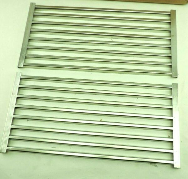 18quot; W x 18.5quot; T 2 Section Slotted Stamped Stainless Cooking Grate Set