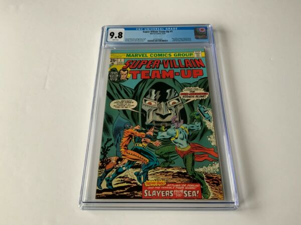 SUPER VILLAIN TEAM UP 1 CGC 9.8 SUB MARINER DOCTOR DOOM TIGER SHARK MARVEL COMIC
