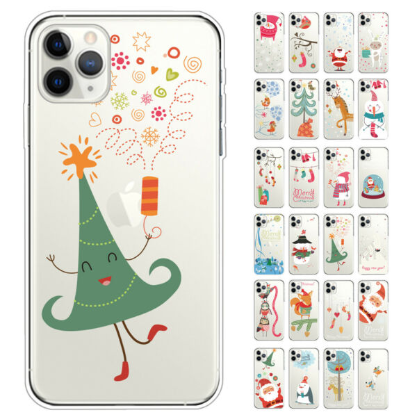 Christmas Snowman Santa Protective Phone Case Cover for iPhone 11 Pro Max 11 Pro $7.38