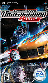 Need for Speed: Underground -- Rivals (Sony PSP 2005) Complete With Manual