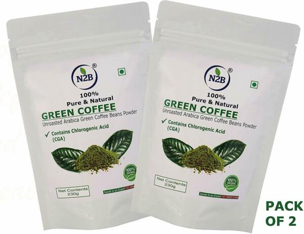 Organic Green Coffee Beans Powder Weight Loss Unroasted Decaffeinated Pack 2