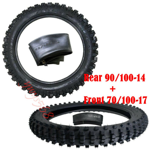 17quot; 14quot; Wheel Set 70 100 17 90 100 14 For CRF50 XR50 CRF70 SSR KLX Motorcycle $139.59