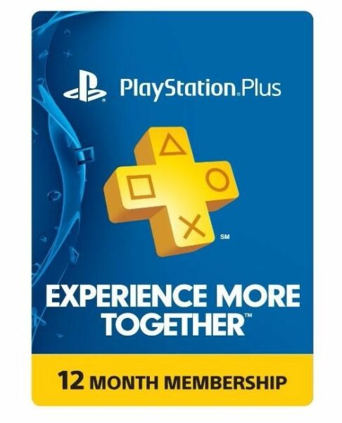 Sony PlayStation PS Plus 12 Month 1 Year Membership Subscription $30.50