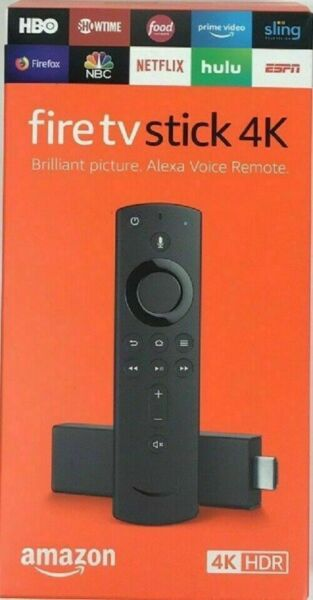 BRAND NEW Amazon Fire Stick 4K wAlexa Voice Remote Latest Version 2019 Prime TV