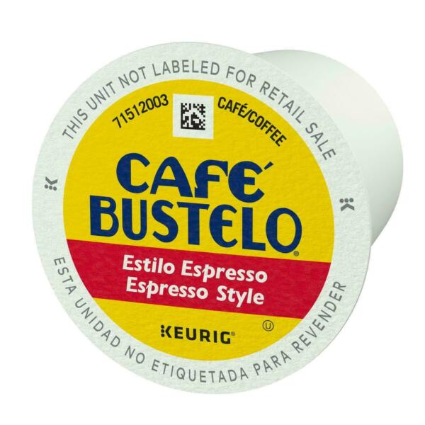 Cafe Bustelo Espresso Style Coffee K Cups select quantity
