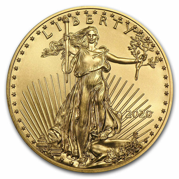 2020 1 oz Gold American Eagle $50 US Mint Coin BU
