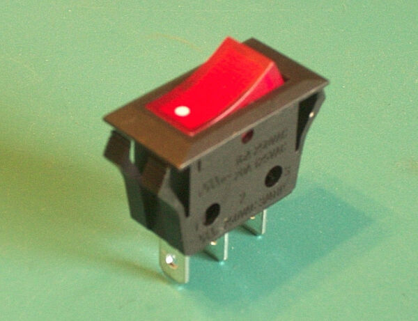 HEAVY-DUTY 20 AMP Twin Star Fireplace Heater On-Off Lighted Rocker Toggle Switch