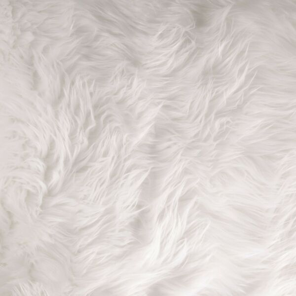 FabricLA Half Yard Shaggy Faux Fake Fur Fabric White