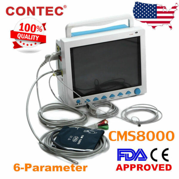 Portable Medical Patient Monitor 6-parameters ICU CCU Vital Sign Cardiac Machine