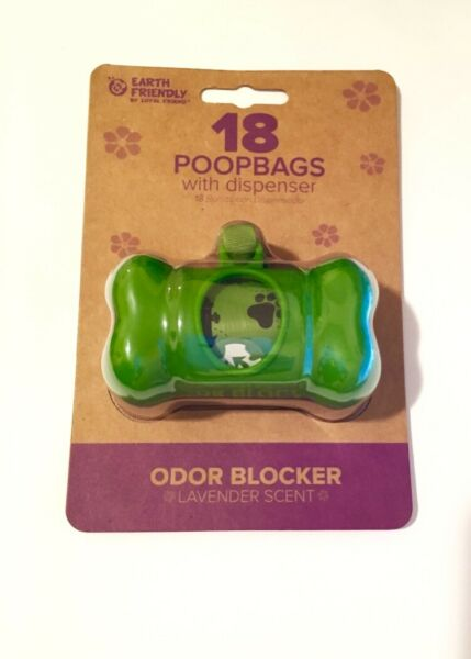 Earth Friendly® Dog Waste Bag Dispenser with 18 Count Lavender Scented Bags $6.50