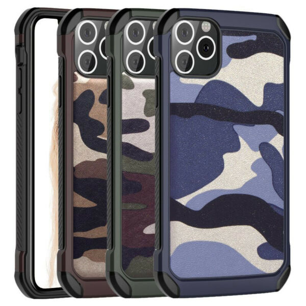 For Apple iPhone 11 Army Camo Camouflage Dual Rugged Shockproof Back Cover Case $7.99