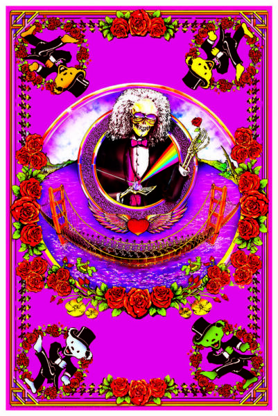 GRATEFUL DEAD - GOLDEN GATE BRIDGE - BLACKLIGHT POSTER - 24X36 - 430