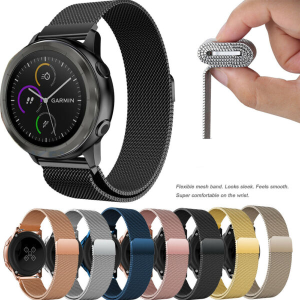 Stainless Steel Band  For Samsung Galaxy Watch Active 2 Gear 404244mm