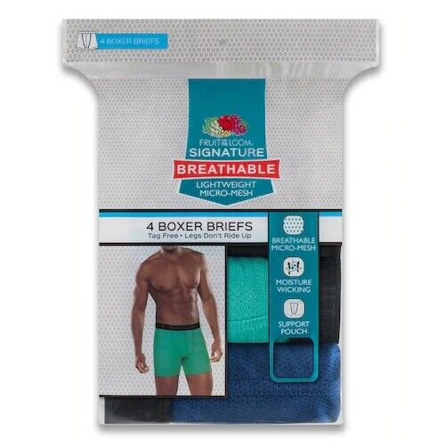 Fruit of the Loom® Men's 4-pack Breathable Micro-mesh Boxer Briefs