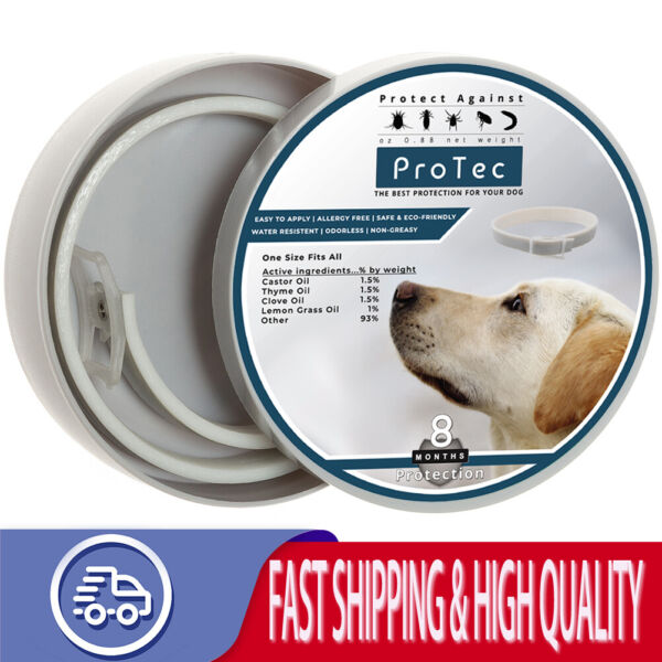 Flea And Tick Control Collar for Medium Large Dog Cat Pet 8 Months Protection