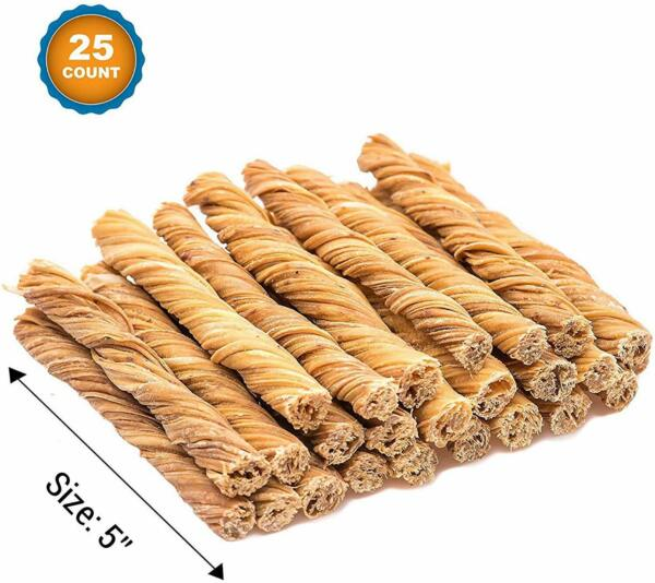 Beef Tripe Dog Sticks 5quot; 25 Count All Natural Dog Treats from Free Range Gr $25.99