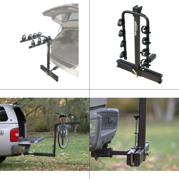 glideaway2 deluxe 4 bike trunk bike rack carrier advantage hitch sportsrack $219.99