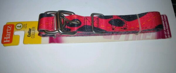 Hartz Dog Collar Red w Black Paw Prints Large 19quot; 22quot; $9.95