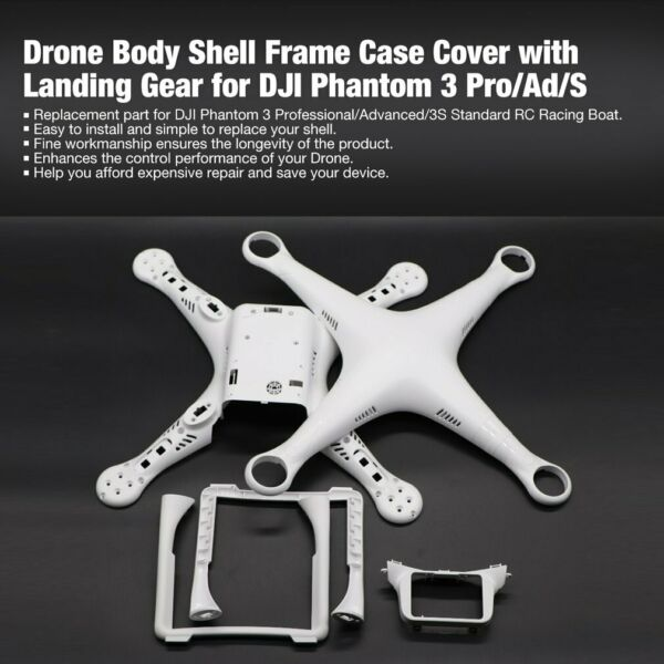 Drone Body Shell Frame Case Cover with Landing Gear for DJI Phantom 3 Pro/Ad/S `