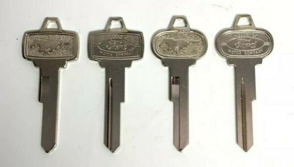 Set 4 2 Ignition amp; 2 Trunk Lock Blank Pony Keys For 1965 1966 Ford Mustang $22.49