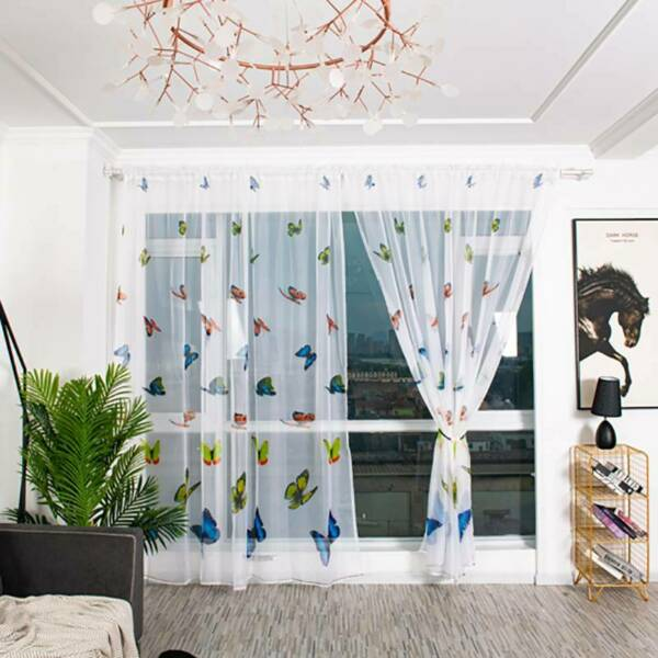 Curtain Balcony Supplies Butterfly Curtain Curtain Curtain Home Bedroom Decor Q