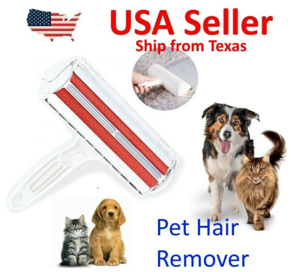 Reusable Pet Hair Remover Couches Clothes Lint Cleaning Cat amp; Dog Fur Roller $6.99
