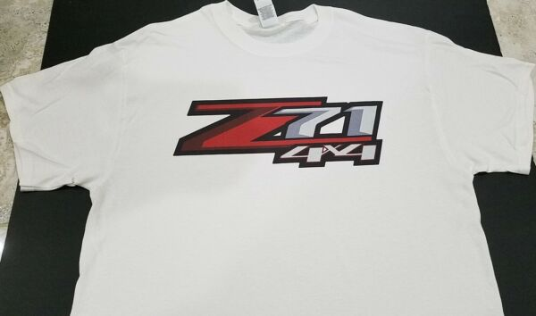 NEW Z71 4X4 T-SHIRT Chevrolet Silverado Colorado bedside truck off road gmc
