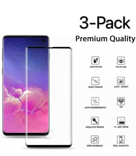 3X Premium Real Tempered Glass Screen Protector For Samsung Galaxy S10 Plus S10E $6.99