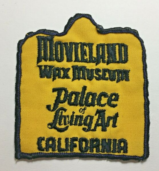 Vintage Movieland Wax Museum Living Art Buena Park California CA Souvenir Patch