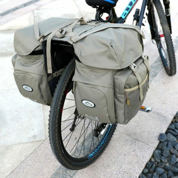 Bicycle Carrier Bag Rear Rack Trunk Bike Luggage Back Seat Pannier Reflectivs $57.30