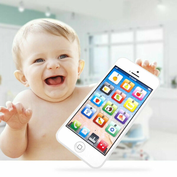 Kids Music Toy Cell Phone | Educational Learning Touch Screen Child Gift White