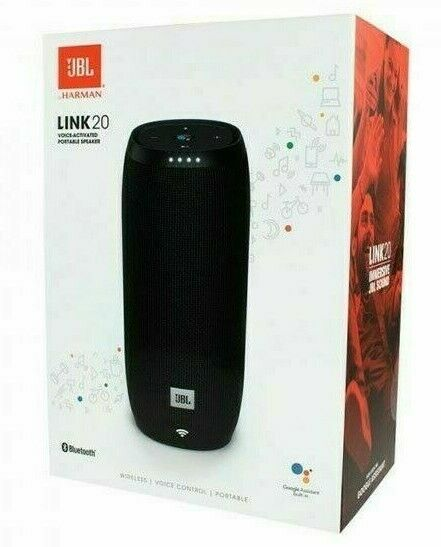 [New In Box] JBL Link 20 Voice-Activated Portable Speaker System - Black