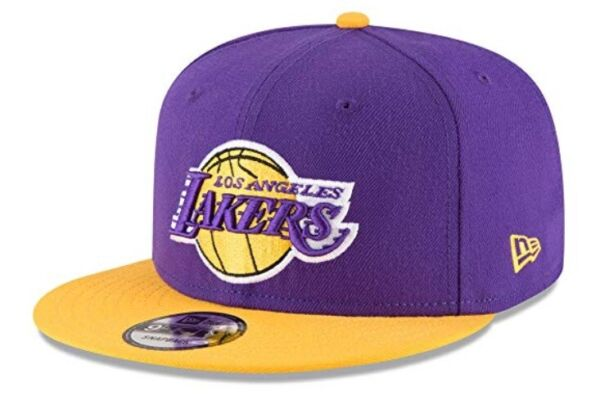 Los Angeles Lakers New Era 9Fifty Basic OTC 2 Tone Adjustable Snapback Hat Cap