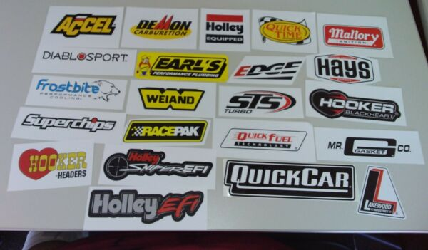 Car Performance, Auto Component,Racing Equipment, & Parts.  Decal Stickers