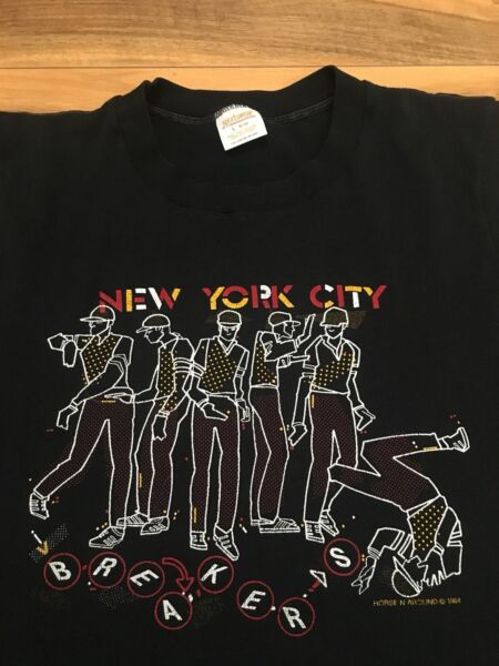 Vintage 1984 New York City Breakers Rare T-shirt Break Dancing Poppin 80s Large