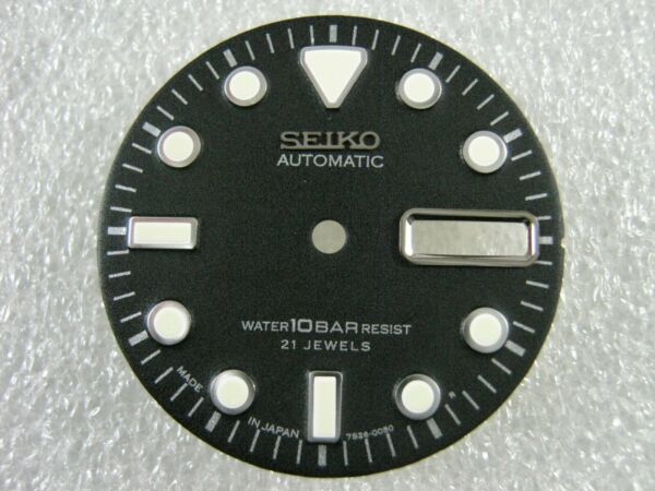 New REPLACEMENT BLACK Day Date Dial Will Fit 10BAR 7S26 0050