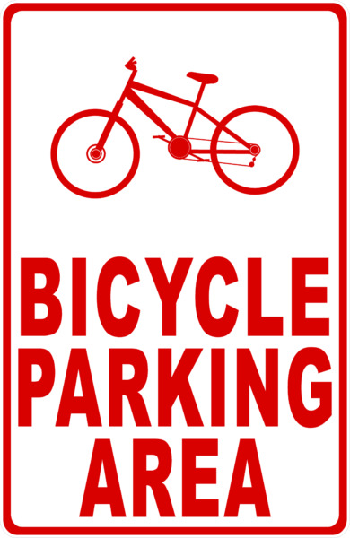 Bicycle Parking Area Sign. Size Options. Bike Bikes Bicycle Park $17.99