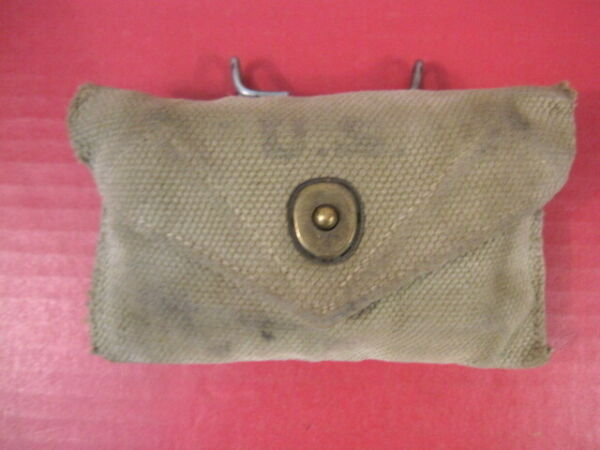 WWII Era US Army M1942 First Aid Kit Khaki Color Canvas Pouch - Original - Nice