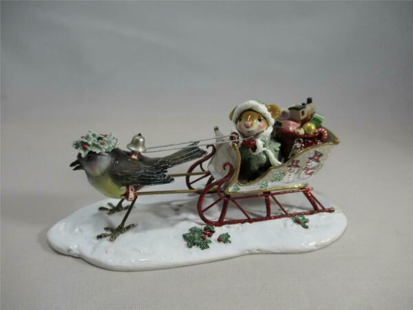 Wee Forest Folk Santa's Christmas Tweets Special Sleigh - Limited Edition 2011