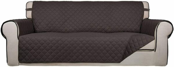 PureFit Reversible Sofa Slipcover Couch Cover Kids Dogs Pets Sofa Chocolate $29.91