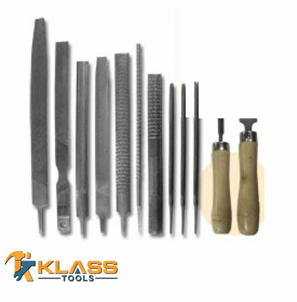 12 Piece File and Rasp Set for Metal and Wood by KlassTools