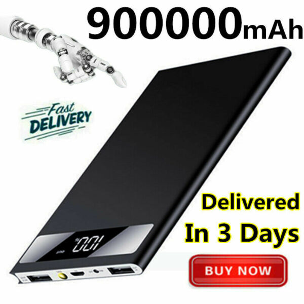 Fast Charging Portable Power Bank 900000mAh Ultra-thin External Battery Charger