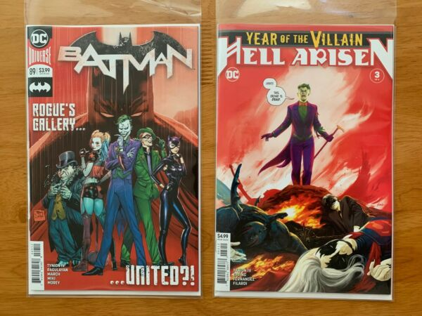 BATMAN 89 YEAR OF THE VILLAIN HELL ARISEN 3 2nd Print Set 1st Punchline NM 34