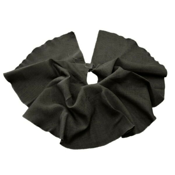 LA Linen Burlap-Tree-Skirt-Black Burlap Tree Skirt Christmas Tree Decor Black