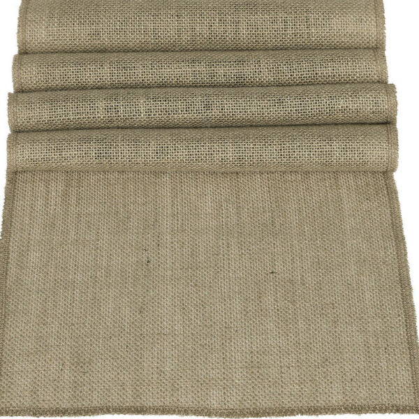 1 5 10x Rustic Burlap Table Runners 12x71quot; 108quot; Hessian Tablecloth Wedding Party
