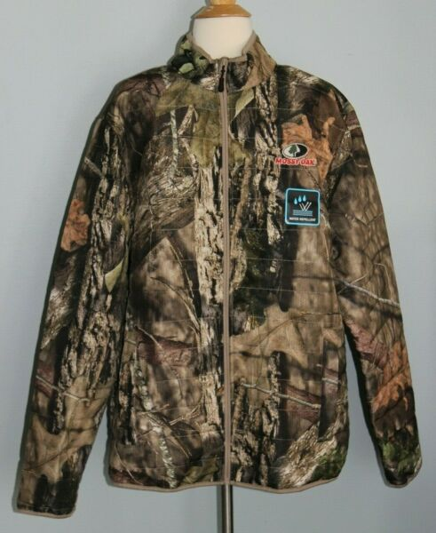NEW Men#x27;s MOSSY OAK Puffer Jacket Break Up Country Hunting Camo Water Repellent
